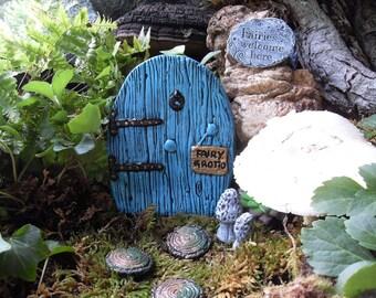 Fairy Door,Medium Fairy Door Set,Fairy Garden Kit,Fairy Door Kit,Fairy Gardens,Outdoor Fantasy Gardens,Gardening Gift,Fantasy Decor,Stone
