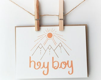 Everyday Card, Greeting Card, Hey Boy Card, Funny Greeting Card