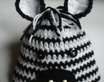 Newborn Zebra Hat, Baby Zebra Hat, Toddler Zebra Hat, Child Zebra Hat, Adult Zebra Hat, Photo Shoot Prop, Baby Shower Gift