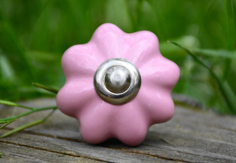 Ceramic knob cabinet knob pink melon handle drawer pull for Children s bureau knobs