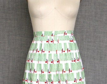 1970s Abstract Patterned Skirt