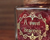 Square Jar with Cork Stopper Personalised 1.5 oz/45ml