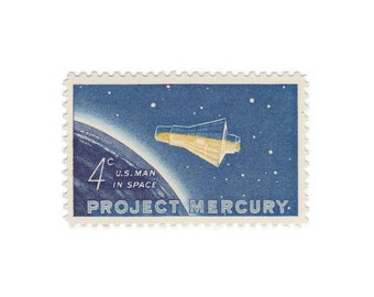 10 Unused Vintage Postage Stamps - 1966 4c Project Mercury - Item No. 1193