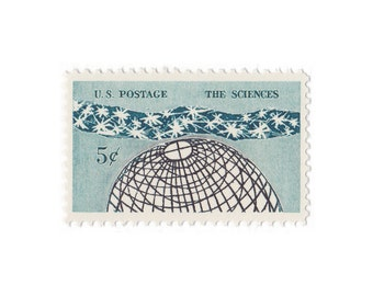 10 Unused Vintage Postage Stamps - 1963 5c The Sciences - Item No. 1237
