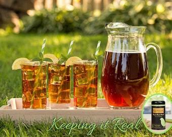 Organic loose leaf tea, BLACK MINT MATE, black tea, peppermint iced tea blend with yerba mate, organic herbs Because ur Priceless