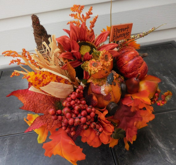 Thanksgiving decor cornucopia horn of plenty tabletop
