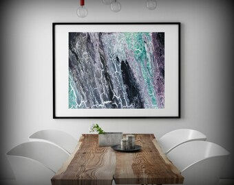 Abstract Fine Art Print, Abstract Print from original Abstract Painting, Large Abstract Art, Modern Wall Hanging Green and Purple Wall Decor