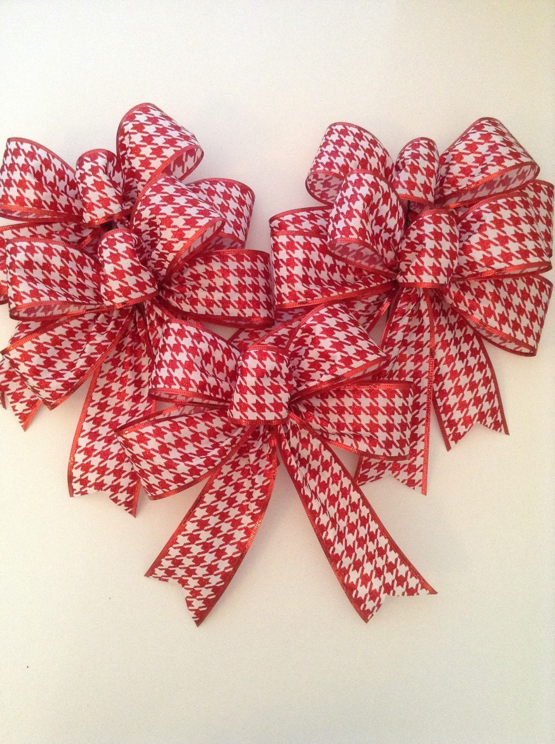 Christmas Red And White Bows Christmas Decorative Bows Red