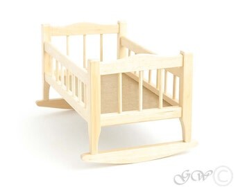 Wooden Handmade Doll Bed, Doll House Bed, Doll Bed, Doll Furniture