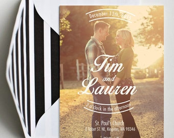 Full Photo Custom Wedding Invitation