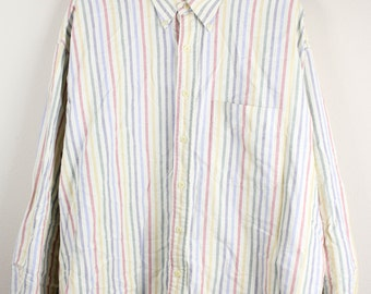 90's Men's Oxford Striped Button Up Shirt