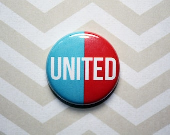 United-One Inch Pinback Button Magnet