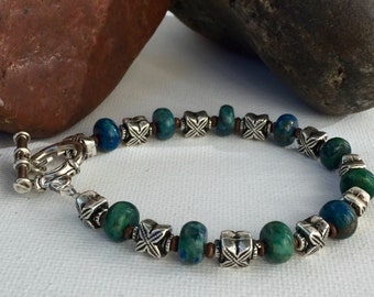 Mens bracelet, Mens Azurite Bracelet, Mens Bracelets, Men's bracelet, Men's jewelry gifts, gifts for men, mens gifts under 100