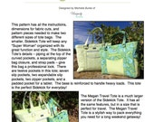 Sidekick Tote & Megan Travel Tote PDF Pattern