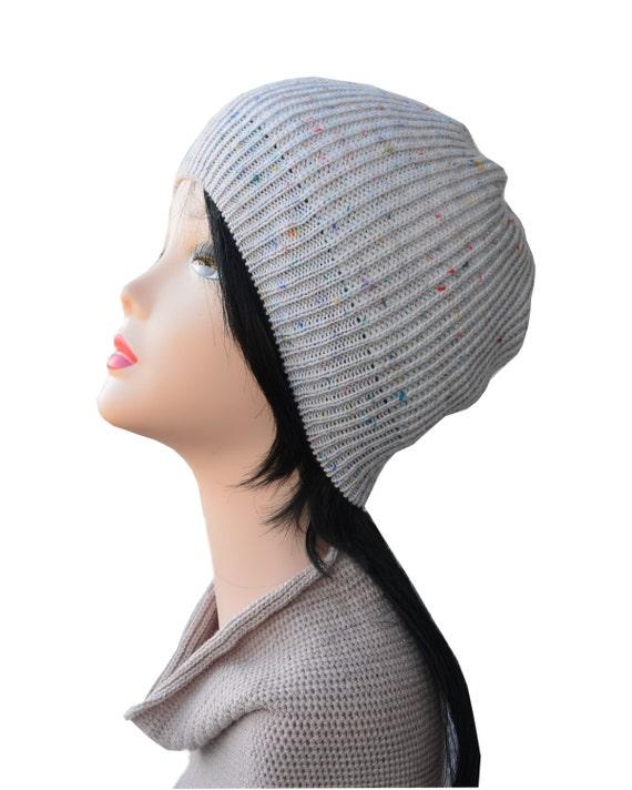 white knit hat womens hat white beanie womens by handmadelana