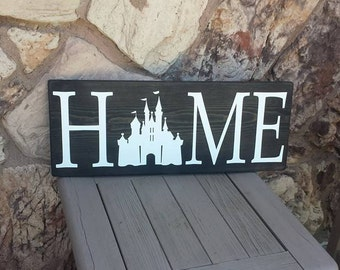 Home Sign Disney Sign Home Decor Handmade Wooden Sign Rustic Decor