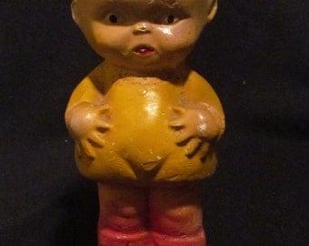 """Vtg Chalkware Kewpie Doll Carnival Prize 1930's 1940's 8"""""""