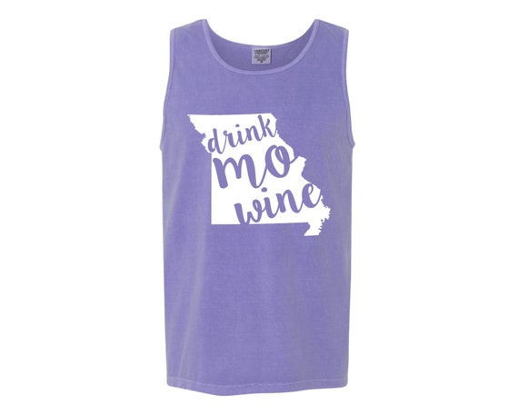 Drink mo wine missouri state outline violet purple unisex for T shirt printing missouri city tx