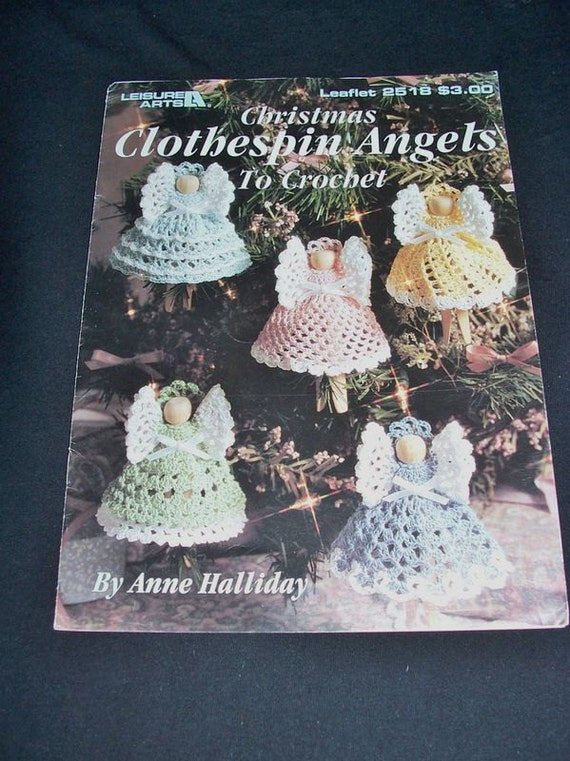 Crochet Angel Clothespin Patterns Booklet by ...