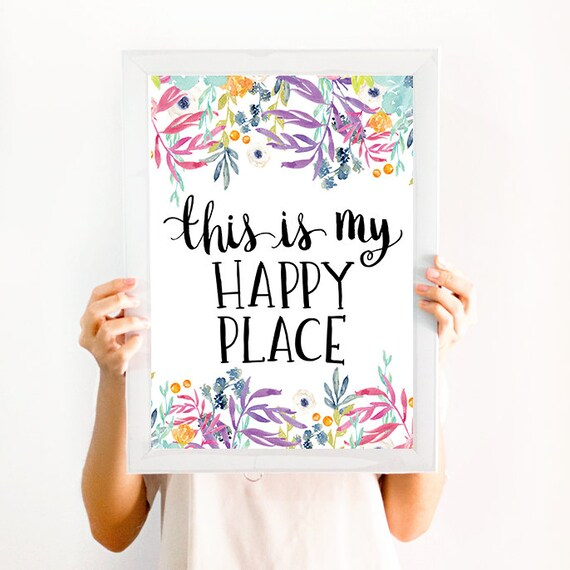 This is my happy place quote wall art decor print - Decoracion con cuadros ...