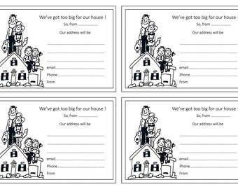 Moving notice etsy for Moving home cards template