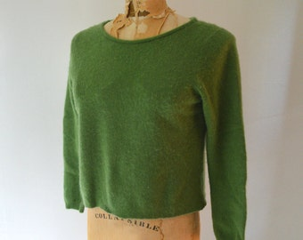 apple green cashmere sweater