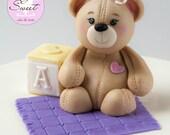 Teddy Bear Cake Topper Ba...