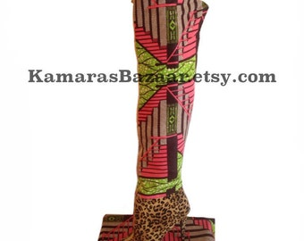 Ankara Leopard Over-the-Knee Boots SALE