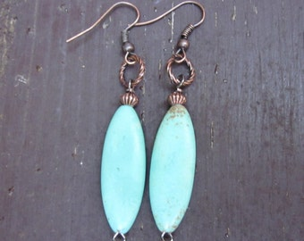 Turquoise earrings boho earrings bohemian jewelry stone earrings bohemian earrings stone earrings Moroccan earrings yoga earrings