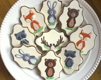 Woodland Animal Cookies-One Dozen