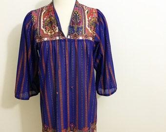 Bohemian Knee Length Vintage Dress