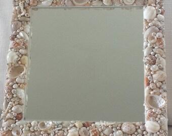 Shell Mirror, Seashell Mirror, Beach Decor, Costal Decor, Nautical Decor