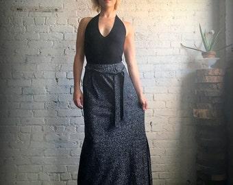 1970's Silver Lamé Maxi Skirt