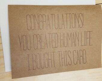 Congrats! You Made a Human.