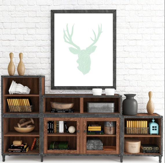 Modern Antler Print, Deer Wall Print, Deer Printable, Deer Print Art, Nordic Decor, Modern Print, Deer Art, Scandinavian Art, Minimalist Art