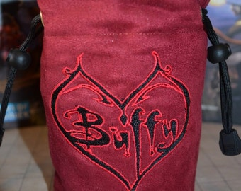 Dice Bag custom Embroidery Suede Buffy the Vampire slayer