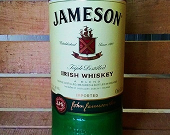 Repurposed  Jameson Irish Whiskey Bottle All Natural Soy Candle