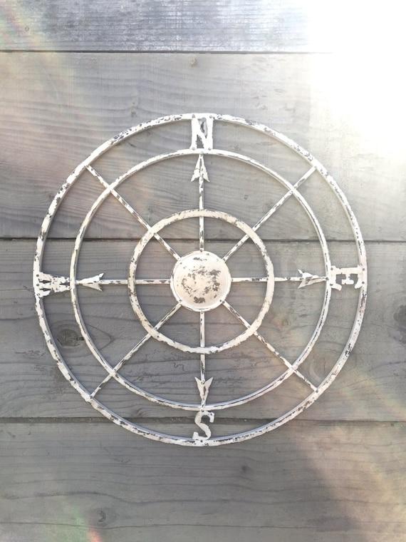 Vintage Compass Wall Decor : Compass wall art nautical decor metal