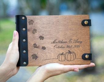 Wedding Guest Book, Guestbook, Halloween, Fall, Pumpkin, Autumn