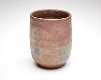 Wood fired Bizen Yunomi Tea Cup. Watanabi Satoshi B2