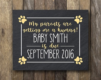 My Parents are Getting Me a Human Announcement - Printable Pregnancy Reveal - Guard Dog Pregnancy Announcement - Getting Me a Human