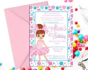 Ballerina Birthday Invitation., Ballerina Birthday Printable