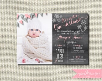 Winter Wonderland Invitation Red Winter Birthday Printable