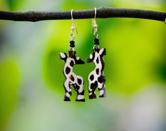 Giraffe Earrings from Kenya