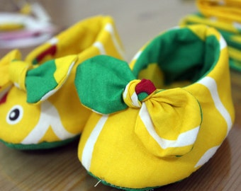 Knotted bow baby shoes tutorial | Baby shoes Pattern Tutorial | Shoes tutorial | Bow baby shoes |