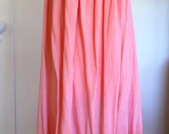70s Mexican Pink Cotton Dress- Size M/L