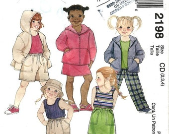 Girls' Playclothes - McCall's Pattern 2198