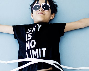 Sky is no limit shirt, Boys Clothes, Hipster Toddler Shirt, Toddler Boy Clothes, Kids Clothes, Boy Toddler Clothing, Toddler Boy Tshirt