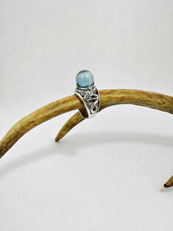 Serpent Aura Quartz Crystal Ball Scrying Ring Potter Magic