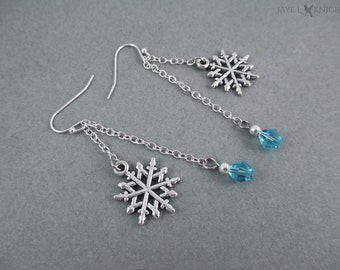 Frozen Inspired Snowflake Earrings with Your Choice of Color